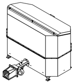 06652829 Automatyczny podajnik do spalania biomasy 2m3 230V 30kW, głowica żeliwna (paliwo: trociny, wióry, zrębki, kora, brykiet, agrobrykiet, pellet, pestki owoców)