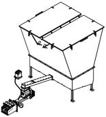 06652856 Automatyczny podajnik do spalania biomasy 10m3 400V 120kW, głowica: żeliwna (paliwo: trociny, wióry, zrębki, kora, brykiet, agrobrykiet, pellet, pestki owoców)
