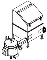 06652925 Automatyczny podajnik do spalania biomasy 1m3 400V 50kW, głowica: ceramiczna (paliwo: trociny, wióry, zrębki)