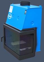 17013553 Wkład kominkowy Enka 13kW Wiktor Prawy UO - układu z naczyniem wyrównawczym otwartym z płaszczem wodnym (prawa boczna szyba)