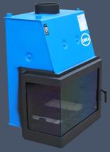 17043653 Wkład kominkowy Enka 18kW Wiktor Lewy UO - układu z naczyniem wyrównawczym otwartym z płaszczem wodnym (lewa boczna szyba)