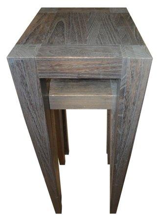 DOSTAWA GRATIS! 52969122 Komplet 2 stołów ciemnych wysokich