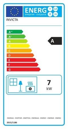 DOSTAWA GRATIS! 86854923 Piec wolnostojący Invicta 7kW Okino (wylot spalin: góra, kolor: antracyt) - spełnia anty-smogowy EkoProjekt