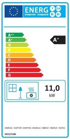 POMA Piec wolnostojący MBS 2-11kW Hit (kolor: bordowy) - spełnia anty-smogowy EkoProjekt 88872834