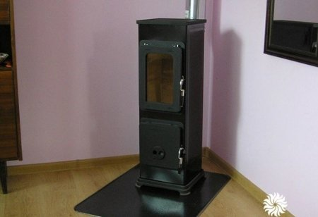 POMA Piec wolnostojący Thorma 2,5-7,5kW Bozen na drewno i węgiel (kolor: czarny, spaliny: tył) - spełnia anty-smogowy EkoProjekt 88869078