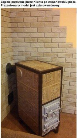 Piec grzewczy kaflowy 9,5kW Retro pięciowarstwowy na drewno (wysokość: 122cm, wylot: 125mm) 92248840