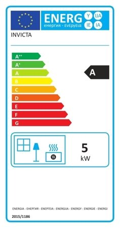 Piec wolnostojący Invicta 5kW Elo L (wylot spalin: góra, kolor: antracyt) - spełnia anty-smogowy EkoProjekt 86865685