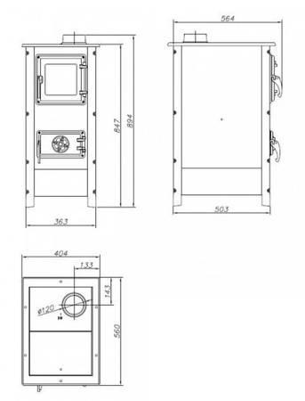Piec wolnostojący MBS 7kW Hera (kolor: beżowy) - spełnia anty-smogowy EkoProjekt 88876224