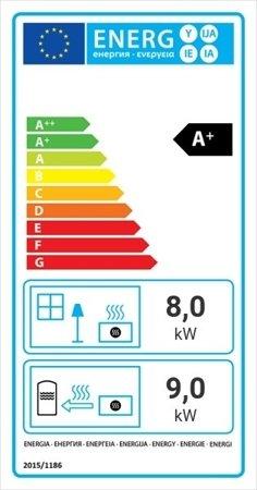 Wkład kominkowy 17kW MBA PW BS z płaszczem wodnym, wężownicą (lewa boczna szyba bez szprosa) - spełnia anty-smogowy EkoProjekt 30066822