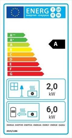 Wkład kominkowy 8kW Maja BS DECO z płaszczem wodnym (lewa boczna szyba bez szprosa) - spełnia anty-smogowy EkoProjekt 30063889